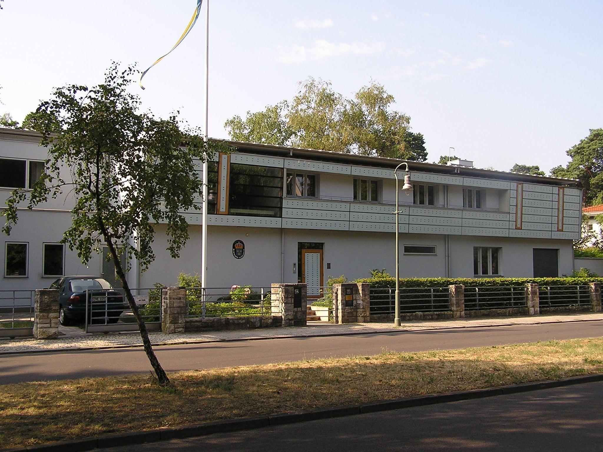 Residenz des schwedischen Botschafters in Berlin, Pücklerstraße 42-44, Berlin-Grunewald - Urheber: Axel Mauruszat